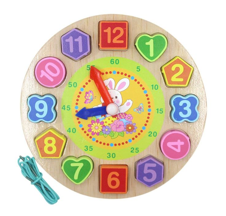 Amazon: Wooden Teaching Time Clock Toys for $7.99 w/code ...