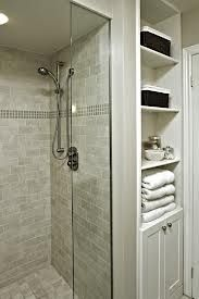 like the shelves/cabinet to the right of the shower - this could work in our bathroom.