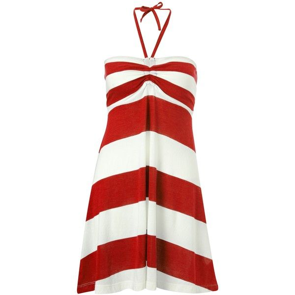 French Connection French Connection Sun Stripe Halter Dress ($78) ❤ liked on Polyvore