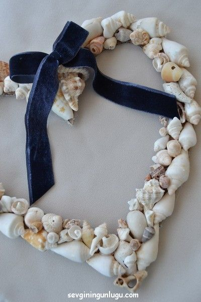 deniz kabuğu, kalp, heart, my heart, decoration, home decoration, door wreath, sea, sea shell, home dıy ideas, handmade