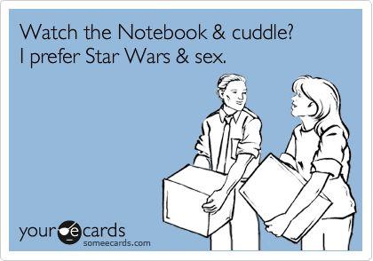 I prefer Star Wars & Sex