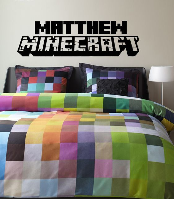 Matthews Room Minecraft Vinyl Wall Decal With Personalized By  DazzlingDecals, $35.00 Part 80