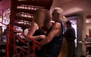 Jimmy Savile caught on camera groping a girl in front of her mother