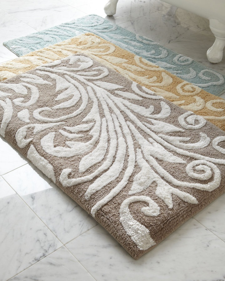 """Bedminster Scroll"" Bath Rug Bath Room Sets, Retired"