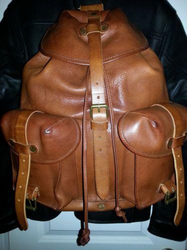 68b7715278 Ralph Lauren RRL Genuine Leather Backpack