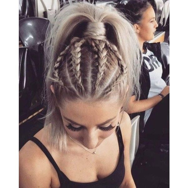 30 Amazing Braided Hairstyles for Medium Long Hair Delightful Braids ❤ liked on Polyvore featuring hair, hairstyles and long hair accessories