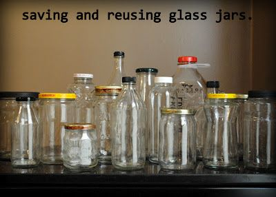 why and how to save and reuse glass jars - what jars are good for what and how to remove the labels easily.