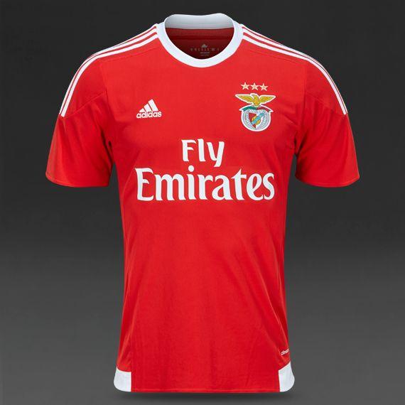 adidas Benfica Lissabon 15/16 Heimtrikot - Rot/Weiß