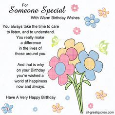 For Someone Special Free Birthday Cards