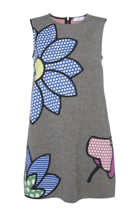 Polka Flowers Patched Vest Dress by Mira Mikati for Preorder on Moda Operandi