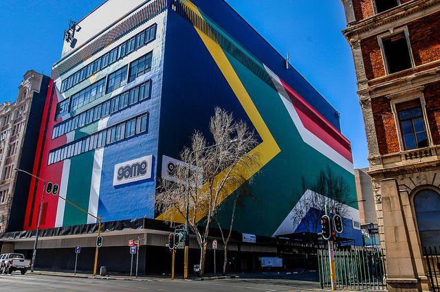 South African Flag, Johannesburg
