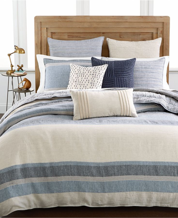 Hotel Collection Linen Stripe Bedding Collection, Only at Macy's - Bedding Collections - Bed & Bath - Macy's