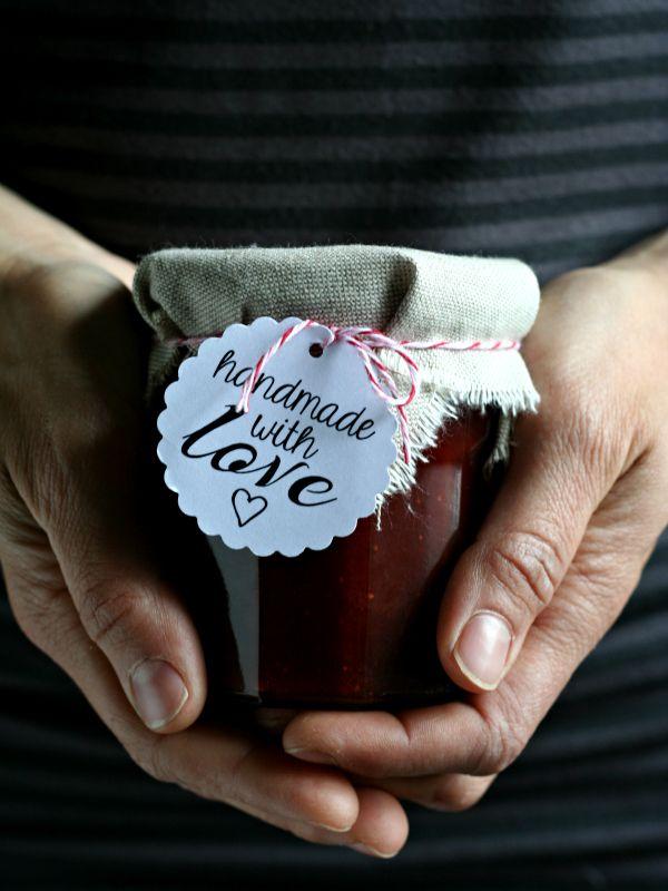 Marmellata di fragole e rabarbaro Rhubarb & Strawberry Jam