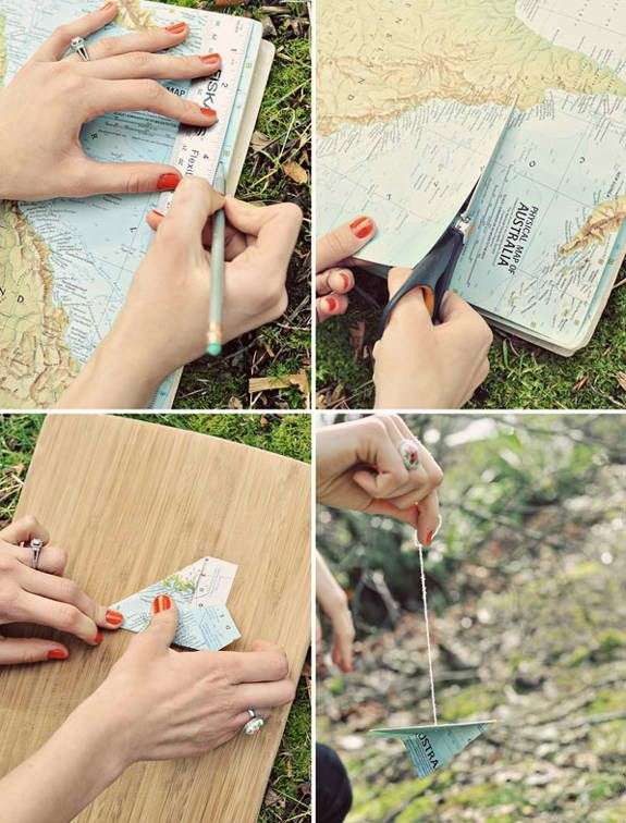 DIY decoration. This seems like a cute idea, especially since I love the travel theme! :-)