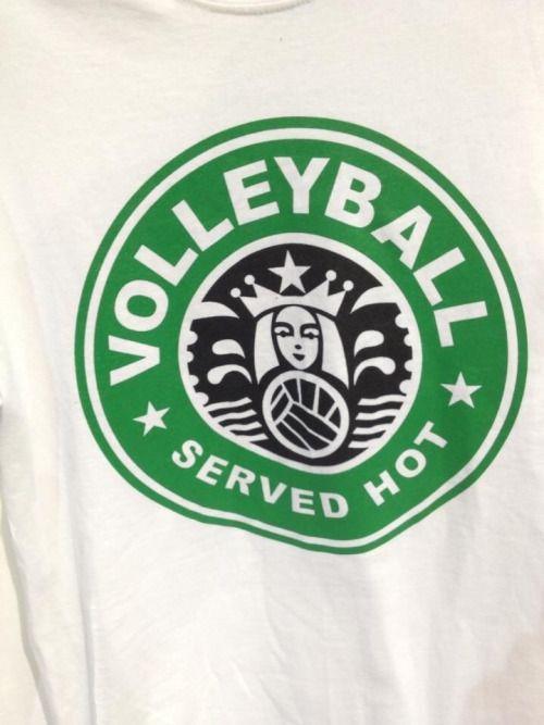 Starbucks? Volleyball? BOTH.