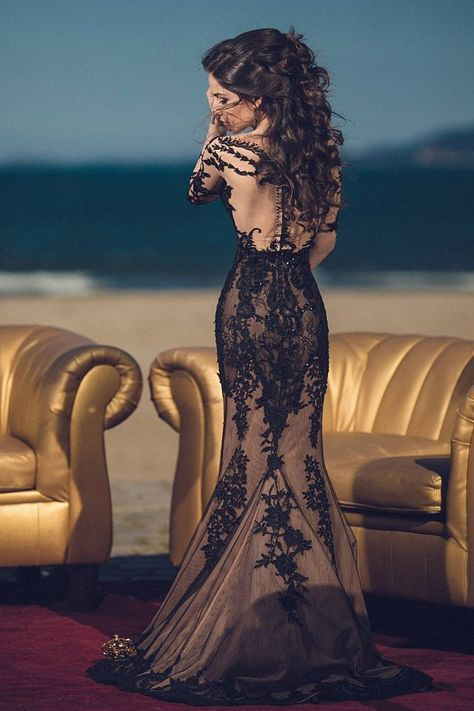 Black marriage ceremony gown, various marriage ceremony gown, black lace bridal gown, offbeat marriage ceremony gown, gothic marriage ceremony gown, black bridal robe