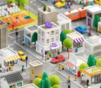 Cidade 3D de Anna Paschenko