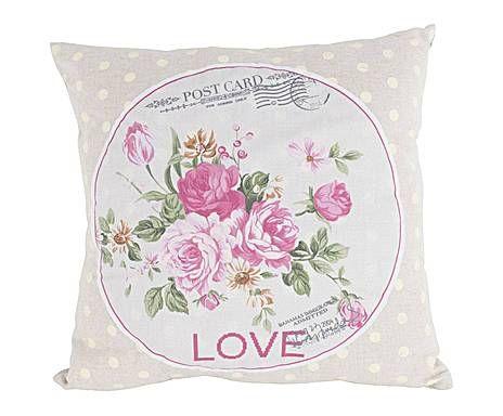 IL VIALE DELLE ROSE: Cuscino in tessuto Love - 40X40 cm