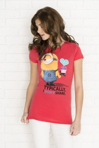 Red Typically I don't share minion graphic t-shirt - Minions