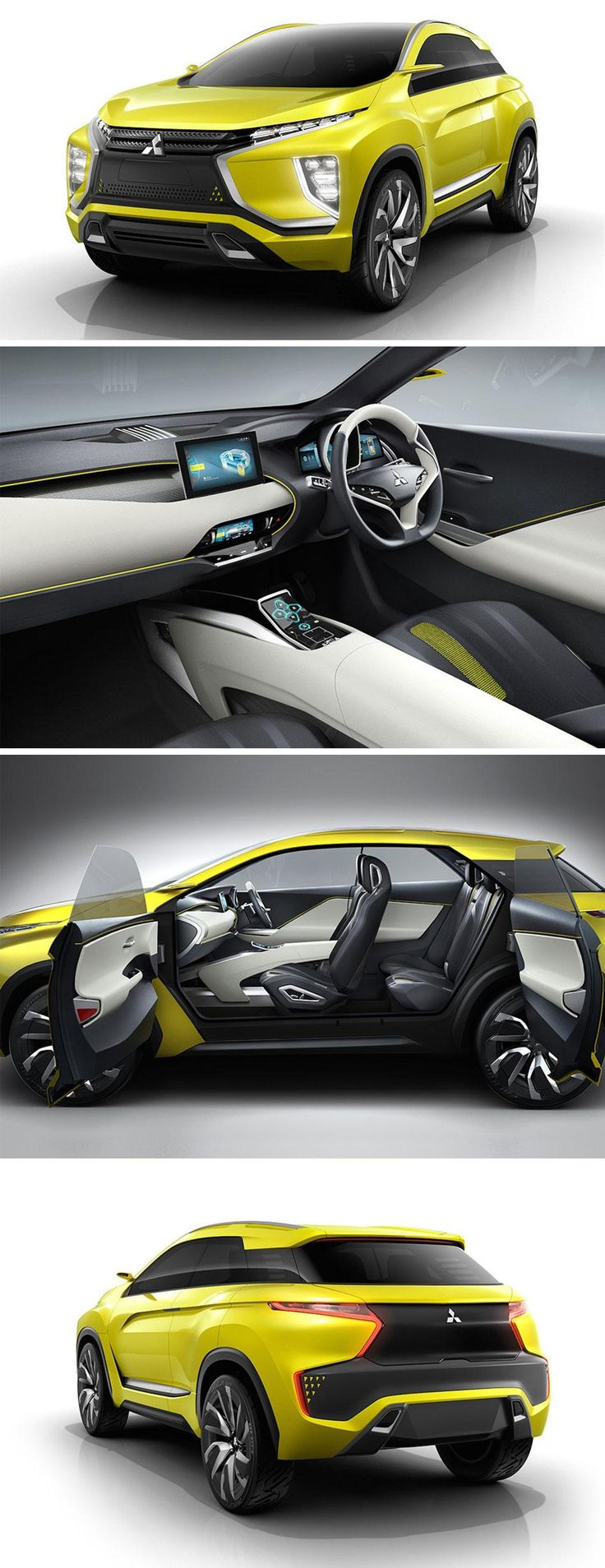 Mitsubishi's new concept car, the eX Concept features an augmented reality windshield