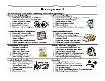 I have the students complete this survey during the first week of school so that they and I know how they learn best. It works as a great ice breaker.