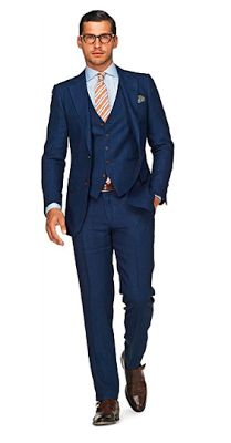 costume bleu marié