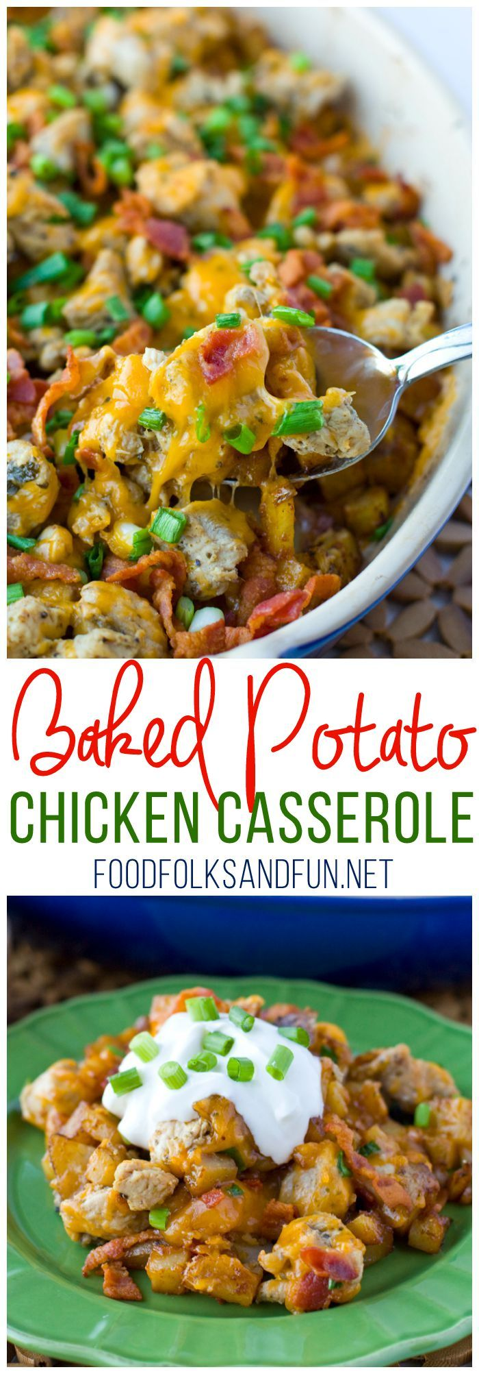 This Loaded Baked Potato Chicken Casserole Recipe is perfect for weeknight family dinners. It's an instant family-favorite and some serious comfort food! #ChooseSmart #Ad