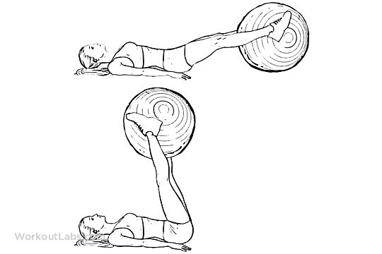 Swiss Ball Leg Lifts (With images)
