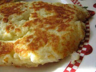 Potato Pancakes- crispy seasoned cakes made from leftover mashed potatoes