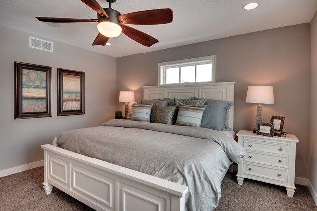 Sherwin Williams Requisite Gray Walls in the Bedroom