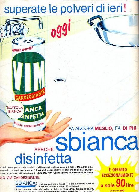 Pubblicità Vim 1961