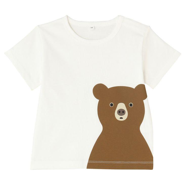 オーガニックコットンプリントTシャツくま   無印良品ネットストア
