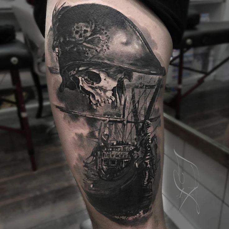 "Gefällt 5,455 Mal, 58 Kommentare - ⠀⠀⠀⠀⠀⠀⠀⠀TATTOO ARTISTS (@tattoo.artists) auf Instagram: ""Impressive b&g ""nautical style"" sleeve (Wip= work in progress) Artist IG: @laurajuanletatouage"""