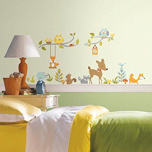 Epic Wandtattoo Wald Fuchs und seine Freunde Wandgestaltung Kinderzimmer