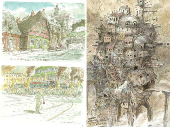 Concept Art for Howl's Moving Castle