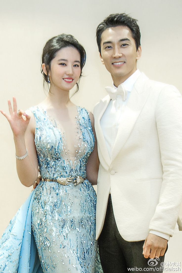 cute couple Lui Yifei and Song Seung Heon.                                                                                                                                                                                 More