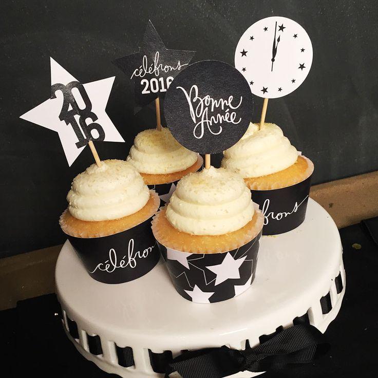 17 meilleures id es propos de cupcakes du nouvel an sur pinterest pr paration pour petits - Gateau pour reveillon nouvel an ...