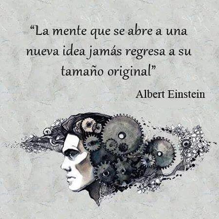 La mente que se abre a una nueva idea...