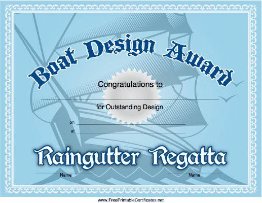 raingutter regatta award ideas | just b.CAUSE