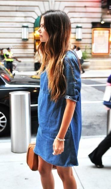 Trend 2014 : Denim Dresses|denim shirtdress|denim skirt | Fashion Trends & Lifestyle Blog by iThinkFashion