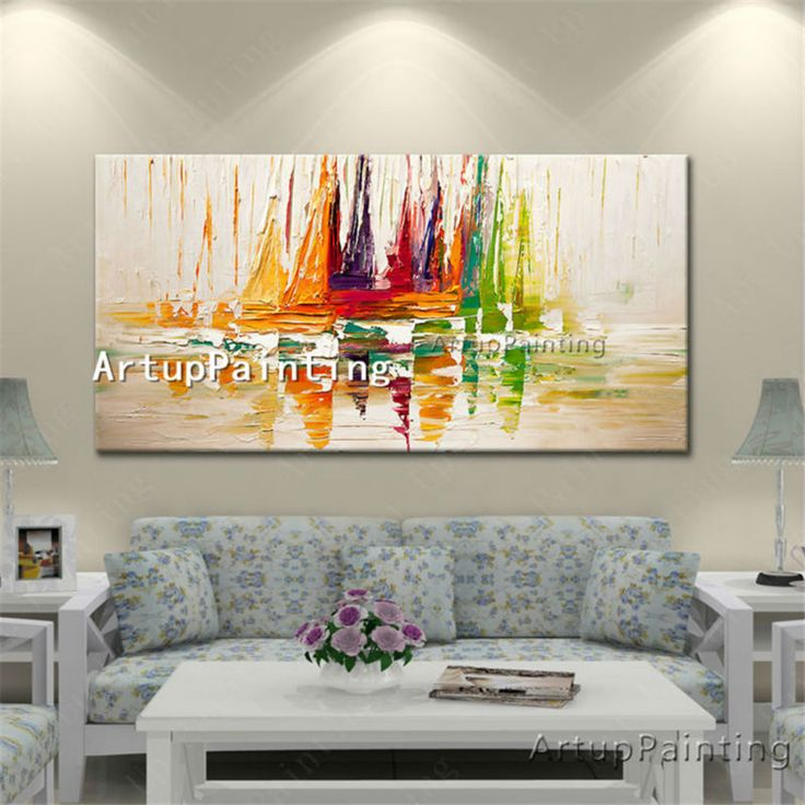 ... Fish Suppliers: Hand Painted Canvas Oil Yacht Abstract Paintings  Palette Knife Cheap Huge Modern Boat Ship Sailing Wall Pictures For Living  Room Part 36