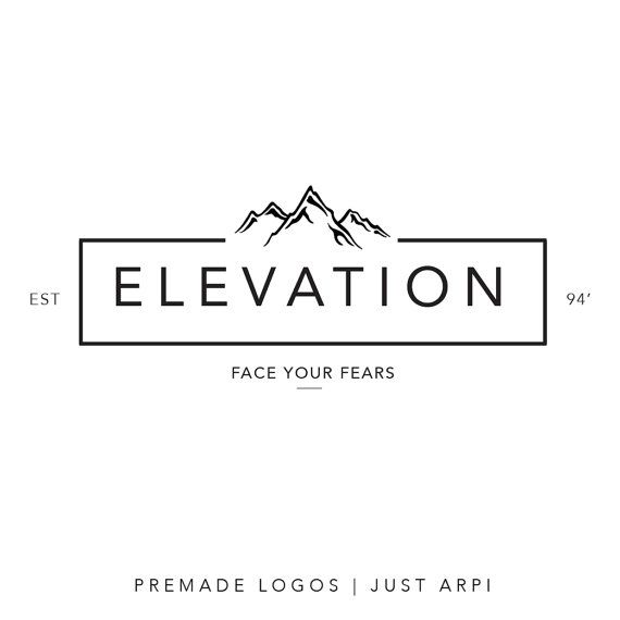 Premade logo | minimal logo | mountain logo | black and white logo | logo designing | Logo template