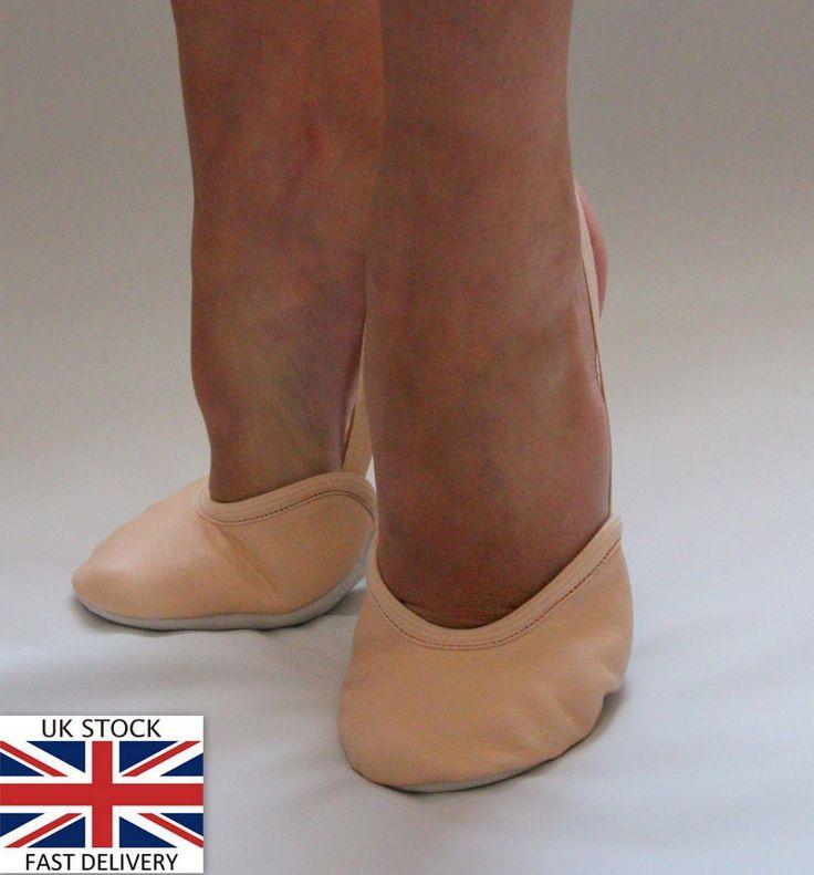 Rhythmic gymnastics leather #beige / nude black toe half shoes #lyrical #dance ne,  View more on the LINK: http://www.zeppy.io/product/gb/2/111120007336/