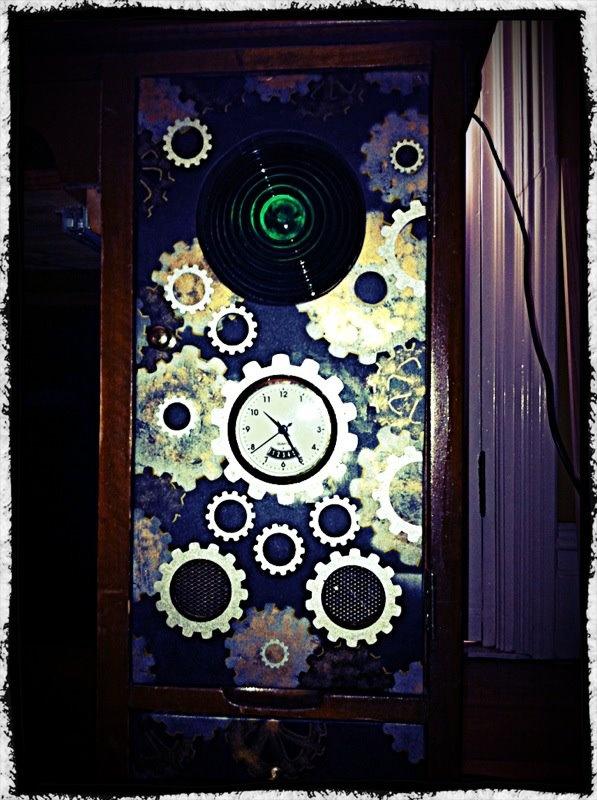 diy steampunk door for a desk