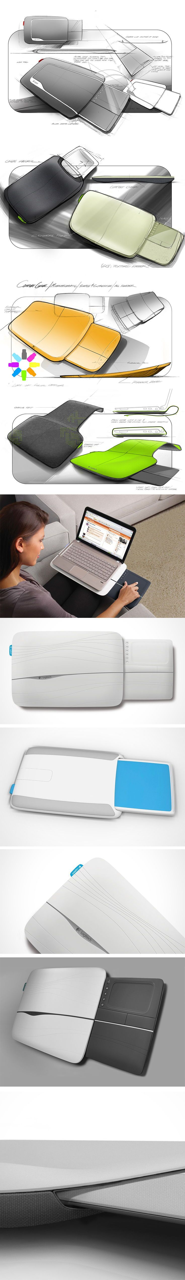 Aptly named the Logitech Lapdesk, it's the latest concept from designer Erik Tuft and it explores the integration of a stylus/tablet combination directly into the laptop body. It's a perfect portable solution for graphic designers, artists, architects and anyone else who works with creative software.