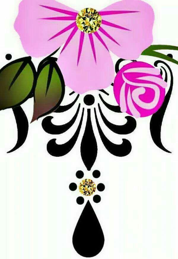 Pin De Katrina Mitten Em Patterns Com Imagens Unhas Florais
