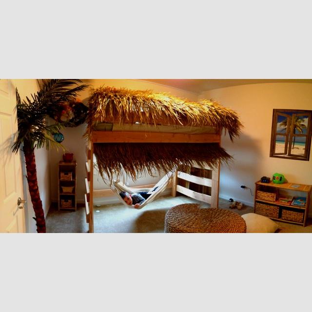 hammock under bunk bed surf world Pinterest