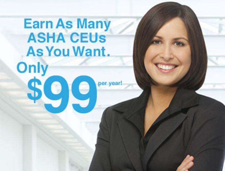 99/year ASHA CEUs Continuing