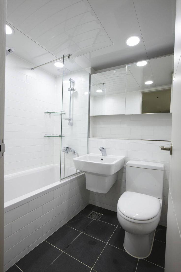 죽전 한양수자인아파트 리모델링 : 모던스타일 욕실 by DESIGNSTUDIO LIM_디자인스튜디오 림