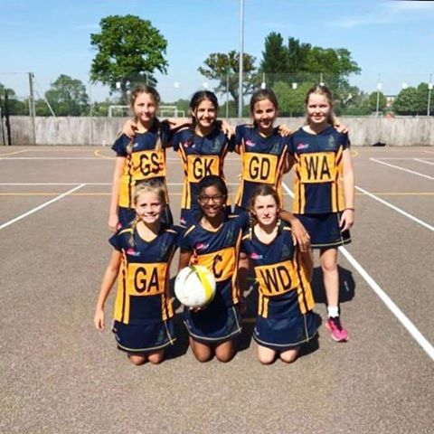 Repton School, Dubai - Senior Sports U11 Netball team winning large on the Repton School Dubai UK Sports Tour. Another school winning with Samurai Sportswear . GO REPTON !